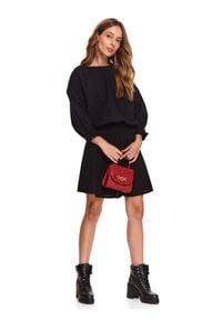 TOP SECRET - Sukienka damska gładka. Kolor: czarny. Wzór: gładki. Sezon: zima. Styl: klasyczny, elegancki