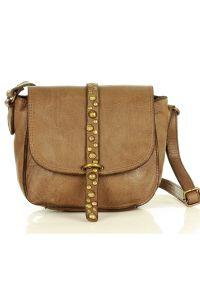 Marco Mazzini handmade - Torebka Listonoszka Saddle Bag Dżety- beż khaki. Kolor: beżowy, brązowy, wielokolorowy