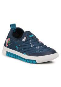 Bibi - Sneakersy BIBI - Roller New 679539 Print/Fun Space. Kolor: niebieski. Materiał: materiał. Wzór: nadruk