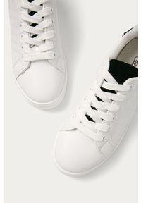 Białe buty sportowe ANSWEAR z cholewką, na sznurówki, z okrągłym noskiem