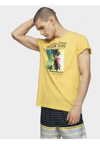 Żółty t-shirt outhorn