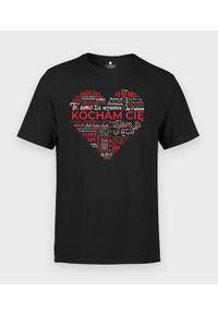 MegaKoszulki - Koszulka męska Kocham Cię w wielu językach. Materiał: bawełna