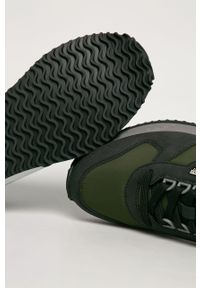 Zielone sneakersy Napapijri na sznurówki, z cholewką