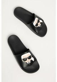 Czarne klapki Karl Lagerfeld klasyczne
