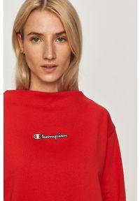Champion - Bluza bawełniana. Okazja: na co dzień. Kolor: czerwony. Materiał: bawełna. Styl: casual
