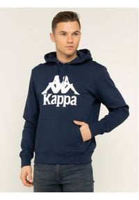 Kappa Bluza Taino 705322 Granatowy Regular Fit. Kolor: niebieski