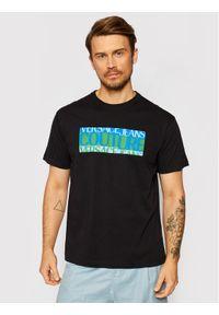 Versace Jeans Couture T-Shirt 71GAHT05 Czarny Regular Fit. Kolor: czarny