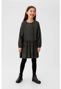 Sukienka Mango Kids z długim rękawem, rozkloszowana #6