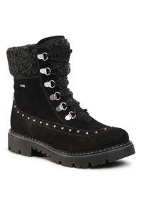Czarne buty zimowe Lasocki Young na spacer, z aplikacjami, z cholewką