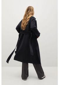 Czarny płaszcz mango gładki, bez kaptura, klasyczny #9