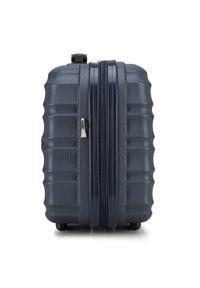 Wittchen - Kosmetyczka podróżna z ABS-u z żebrowaniem. Kolor: niebieski