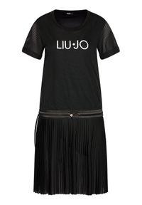 Czarna sukienka Liu Jo Sport sportowa, na co dzień