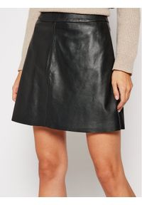 LaMarque Spódnica skórzana 6303 Czarny Regular Fit. Kolor: czarny. Materiał: skóra