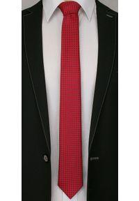 Niebieski krawat Alties elegancki, w geometryczne wzory