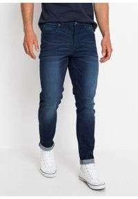 Dżinsy ze stretchem Skinny Fit Straight, średnia wysokość stanu bonprix niebieski denim. Kolor: niebieski
