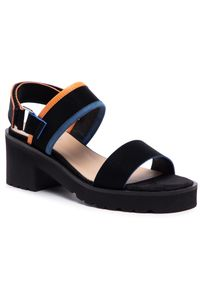 Czarne sandały Edeo