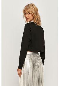 Czarna bluza Calvin Klein Jeans bez kaptura, z aplikacjami