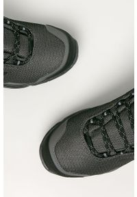 Szare buty trekkingowe adidas Performance na sznurówki, z cholewką