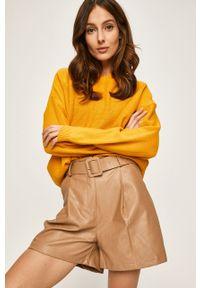 Żółty sweter ANSWEAR z kapturem #5