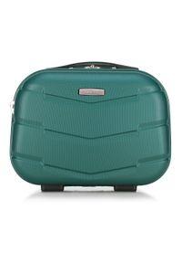 Wittchen - Kosmetyczka podróżna z ABS-u w deseń. Kolor: zielony