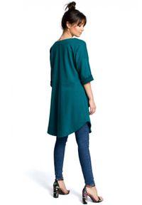 Zielona sukienka BE na lato, trapezowa