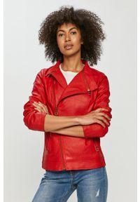 Czerwona kurtka Desigual na co dzień, gładkie, casualowa