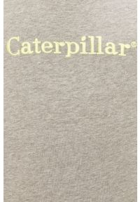 CATerpillar - Caterpillar - Bluza. Okazja: na co dzień. Kolor: szary. Długość rękawa: raglanowy rękaw. Wzór: aplikacja. Styl: casual