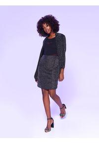 Czarna spódnica TOP SECRET elegancka, na jesień, w kolorowe wzory