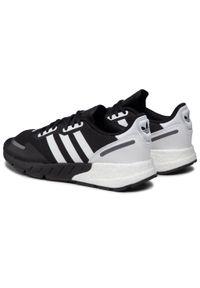 Adidas - Buty adidas - Zx 1K Boost FX6515 Cblack/Ftwwht/Blcsil. Zapięcie: sznurówki. Kolor: czarny. Materiał: materiał. Szerokość cholewki: normalna. Sezon: lato