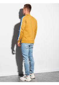Żółta bluza Ombre Clothing na lato, bez kaptura, retro #10