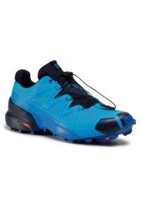 Niebieskie buty do biegania salomon Gore-Tex, Salomon Speedcross, z cholewką