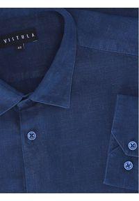 Vistula Koszula Ino B XT1097 Granatowy Slim Fit. Kolor: niebieski