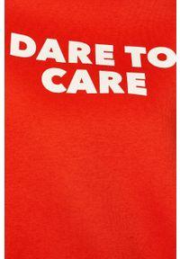 Czerwona bluza TALLY WEIJL na co dzień, z nadrukiem, casualowa
