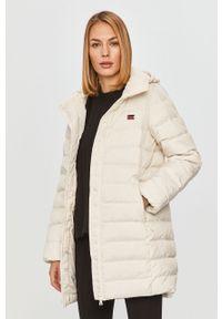 Biały płaszcz Levi's® z kapturem, casualowy, na co dzień