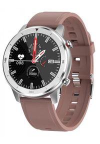 Brązowy zegarek GARETT sportowy, smartwatch