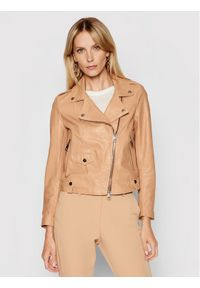 Imperial Kurtka skórzana V3025400 Brązowy Slim Fit. Kolor: brązowy. Materiał: skóra
