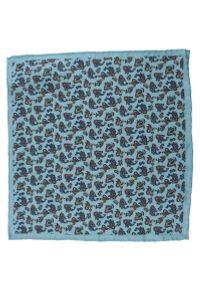 Niebieska poszetka EM Men's Accessories paisley