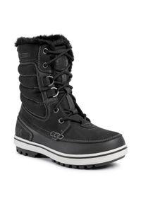 Czarne buty zimowe Helly Hansen eleganckie, z cholewką