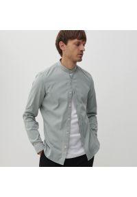 Reserved - Koszula super slim fit - Turkusowy. Kolor: turkusowy