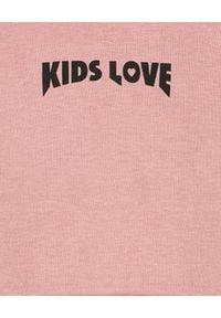 KIDS LOVE - Bawełniana bluza z kapturem Menfi. Typ kołnierza: kaptur. Kolor: różowy, fioletowy, wielokolorowy. Materiał: bawełna