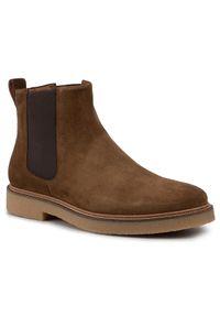 Brązowe buty zimowe vagabond eleganckie, z cholewką