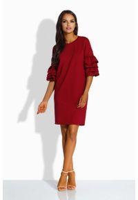 Czerwona sukienka Lemoniade z falbankami, mini, prosta