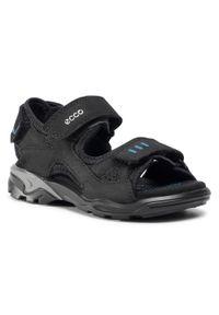 Czarne sandały ecco