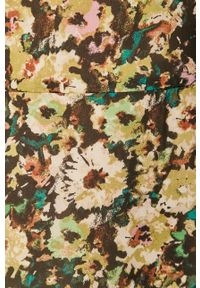 Vero Moda - Sukienka. Kolor: zielony. Materiał: tkanina, poliester. Długość rękawa: długi rękaw. Typ sukienki: rozkloszowane