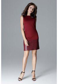 Czerwona sukienka wizytowa Katrus prosta