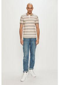 Beżowa koszulka polo PRODUKT by Jack & Jones casualowa, na co dzień, krótka