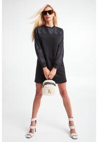 Karl Lagerfeld - SUKIENKA KARL LAGERFELD. Długość rękawa: długi rękaw. Wzór: haft. Długość: mini