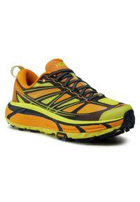 Żółte buty do biegania Hoka One One z cholewką