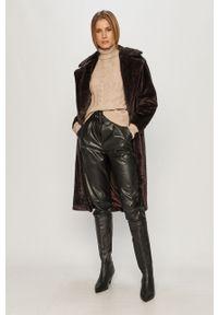 Brązowy płaszcz Vero Moda bez kaptura, klasyczny