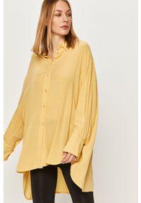 Żółta koszula Answear Lab na co dzień, z klasycznym kołnierzykiem, wakacyjna #5